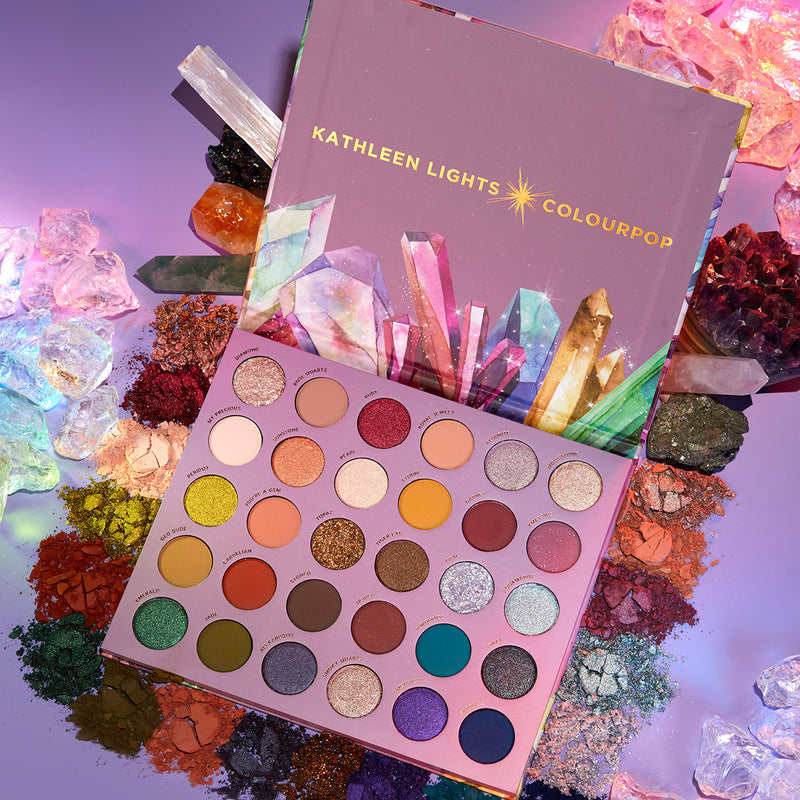 Kathleen Lights x ColourPop So Jaded Mega Colorful Eyeshadow Palette 30 super pigmented shades matte, metallic, super shock and pressed glitter