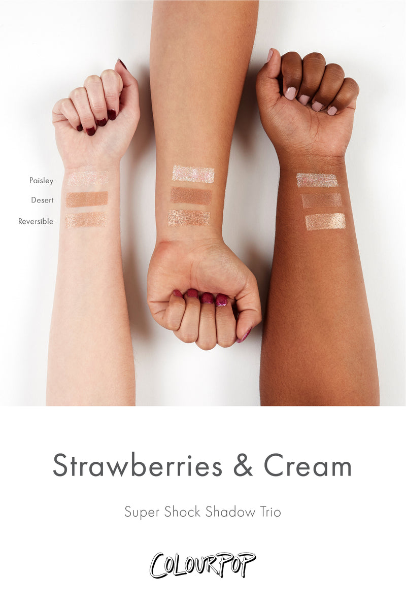 Strawberries and Cream Super Shock eyeshadow Set arm swatches