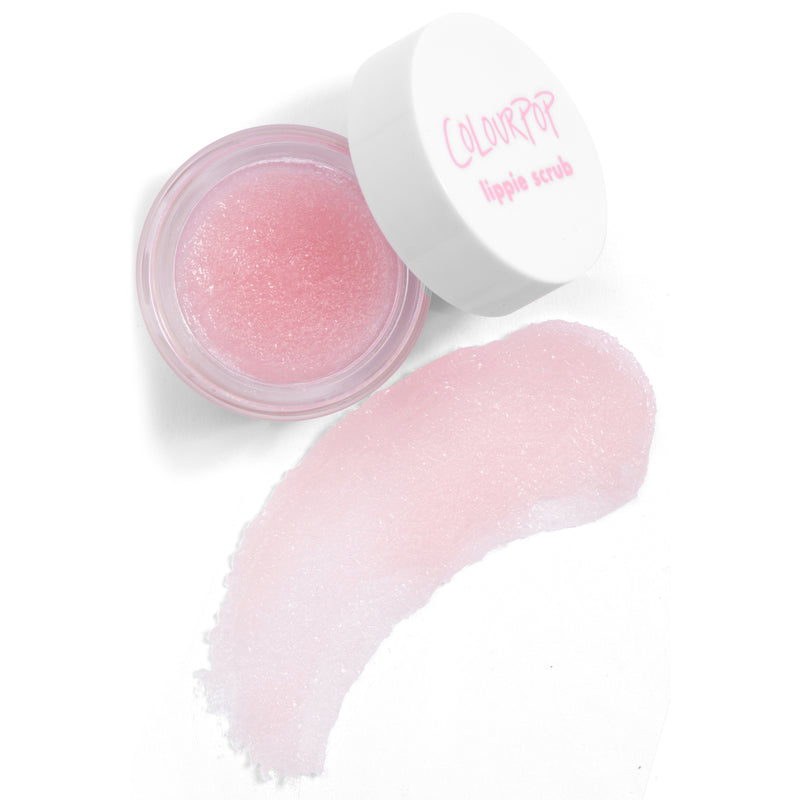 By The Bushel light pink Lippie Scrub is a gentle sugar lip scrub that exfoliates and conditions lips, pucker up!