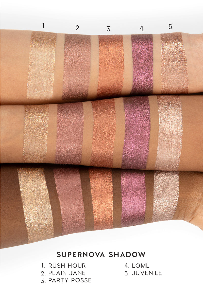 Colourpop Fall Edit Collection supernova shadow arm swatches