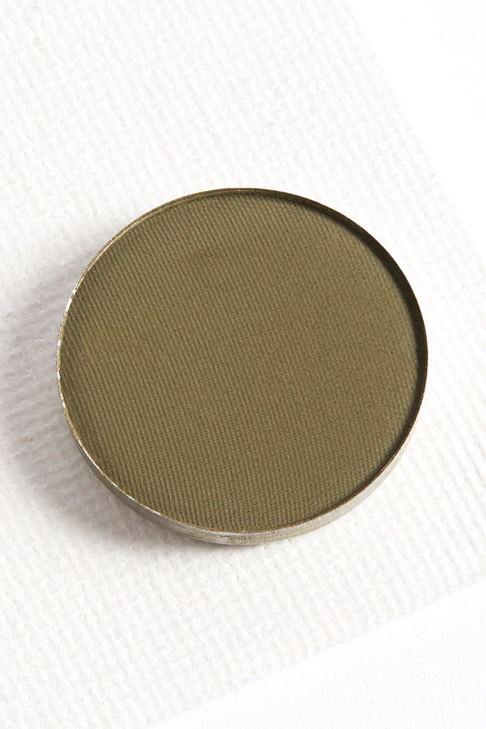 Team Captain matte medium olive green Pressed Powder eye shadow