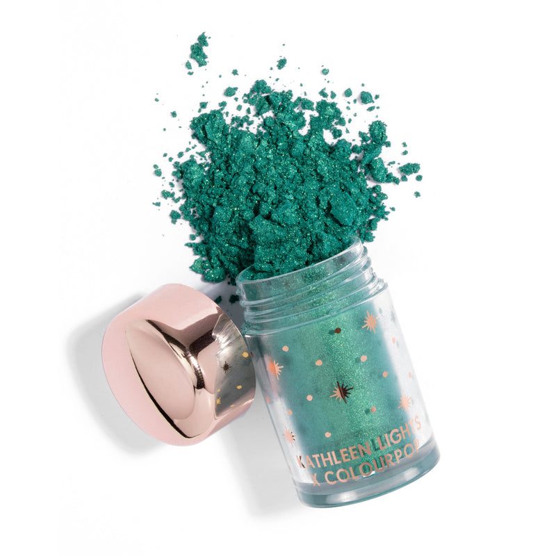 Colourpop x Kathleen Lights Loose Pigment Shadows The Bull bright emerald green