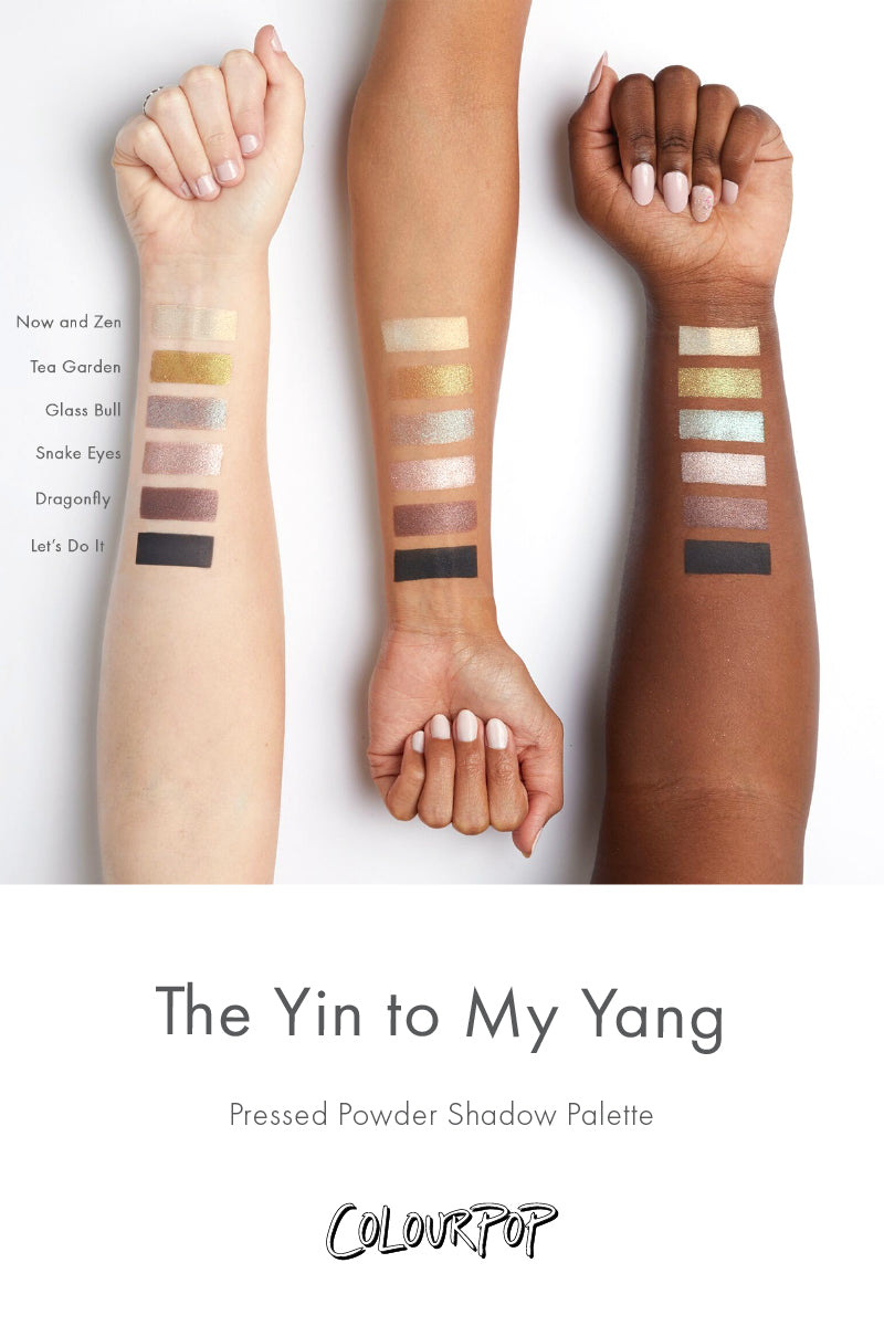 The Yin to My Yang Eyeshadow Set swatches
