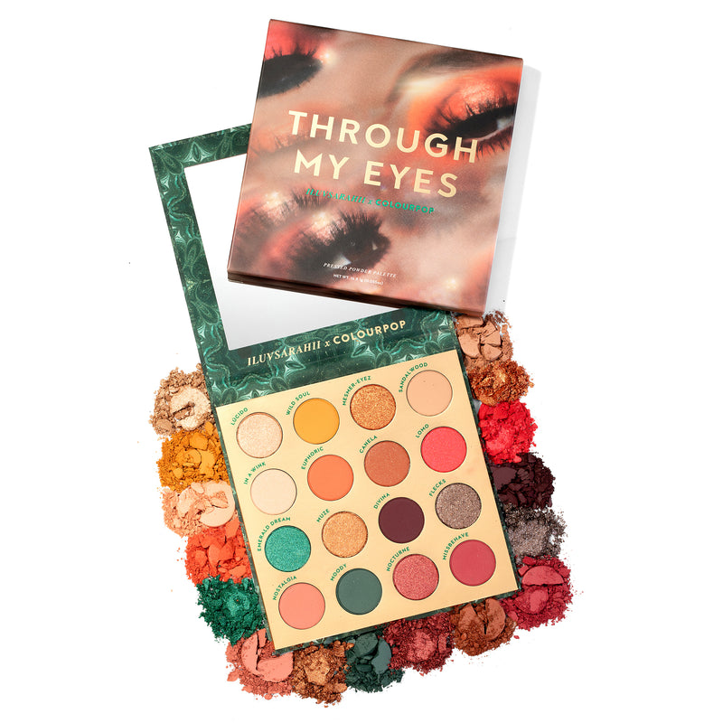 iluvsarahii x ColourPop Through My Eyes 16 Pressed Powder Shadow Palette