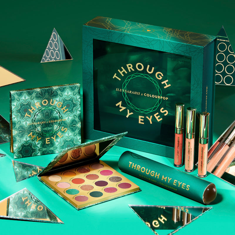 iluvsarahii x ColourPop Through My Eyes PR Collection Box Kaleidoscope