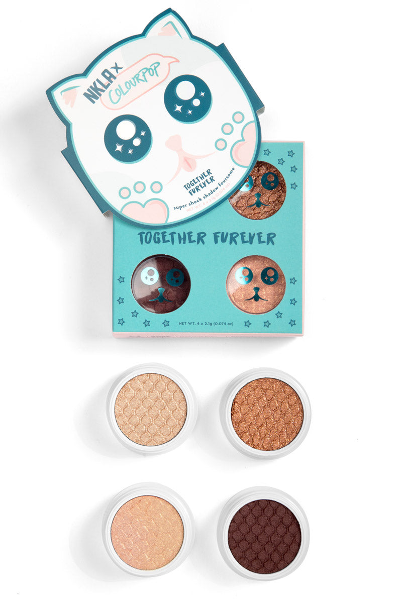 NKLA x ColourPop - Together Furever Super Shock Shadow Foursome