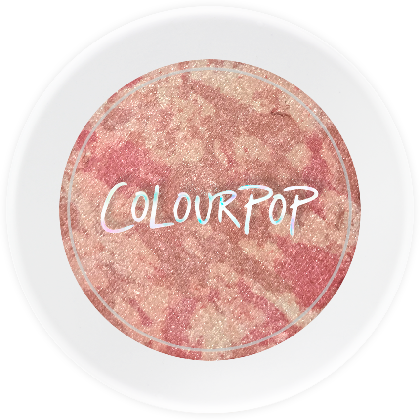 Tough Love soft pastel pink pearlized highlighter