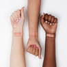 Toy light peachy nude Crème Lippie Stix swatches