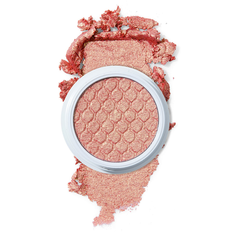 Twitterpated light pink with gold glitter Super Shock eye Shadow