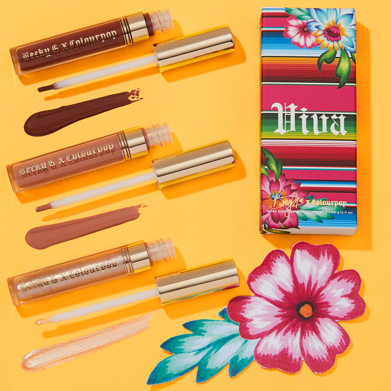 Becky G x ColourPop - Viva Lips bundle of Ale, B, and Steph Ultra Glossy lip glosses