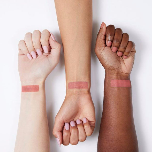 Wait for It matte hot peach orange pressed powder eye shadow swatches
