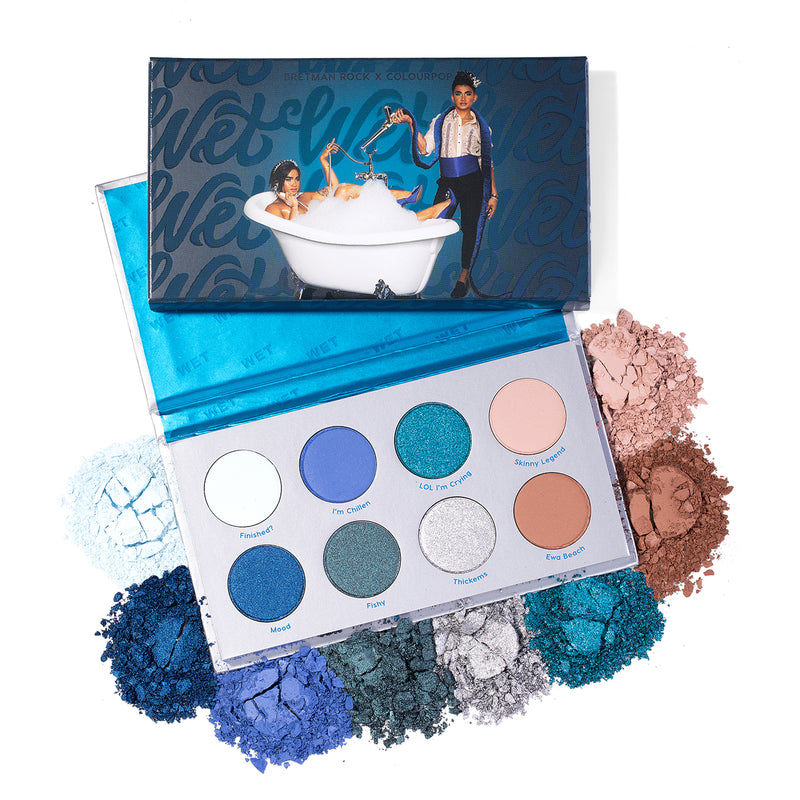 Bretman x ColourPop - Wet blue Pressed Powder Shadow Palette