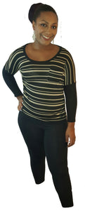 Tan/black long sleeve - Endless Fashions LLC