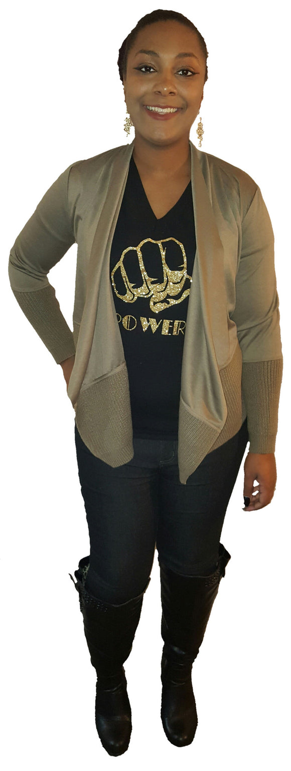 Mocha sweater cardigan - Endless Fashions LLC