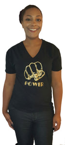 Power v neck tee - Endless Fashions LLC