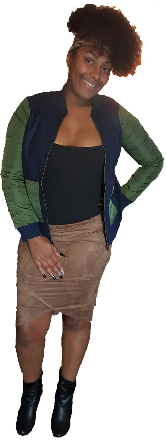 Mocha suede skirt - Endless Fashions LLC