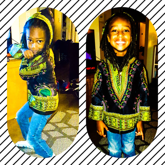 Kids- Hooded Dashiki