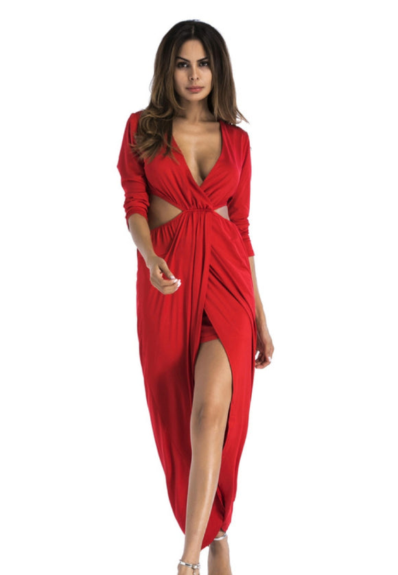 Sexy, Deep V Hallowed out dress - Endless Fashions LLC