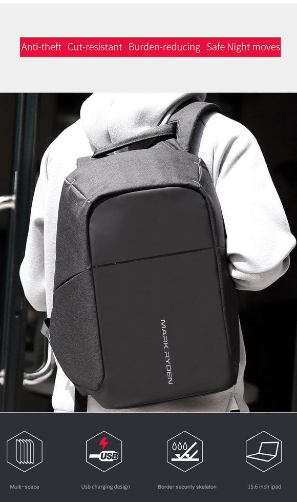two tone charging backpack - Endless Fashions LLC