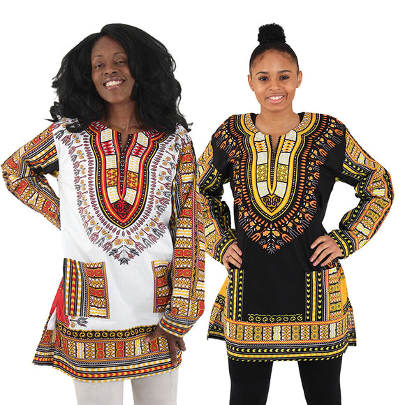 Long Sleeve Dashiki - Endless Fashions LLC