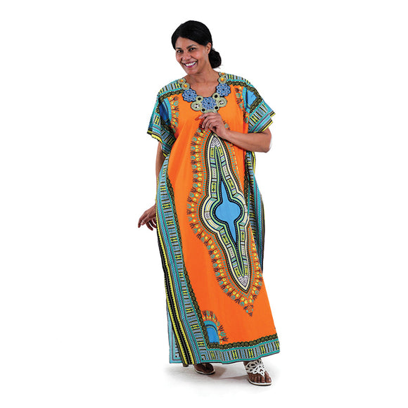 Traditional Print Kaftan - Endless Fashions LLC