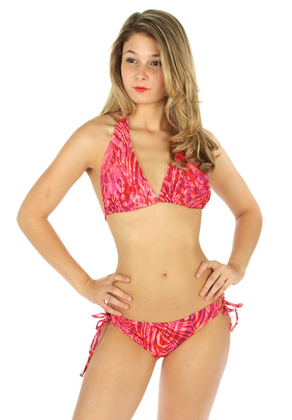 Pink abstract bikini - Endless Fashions LLC