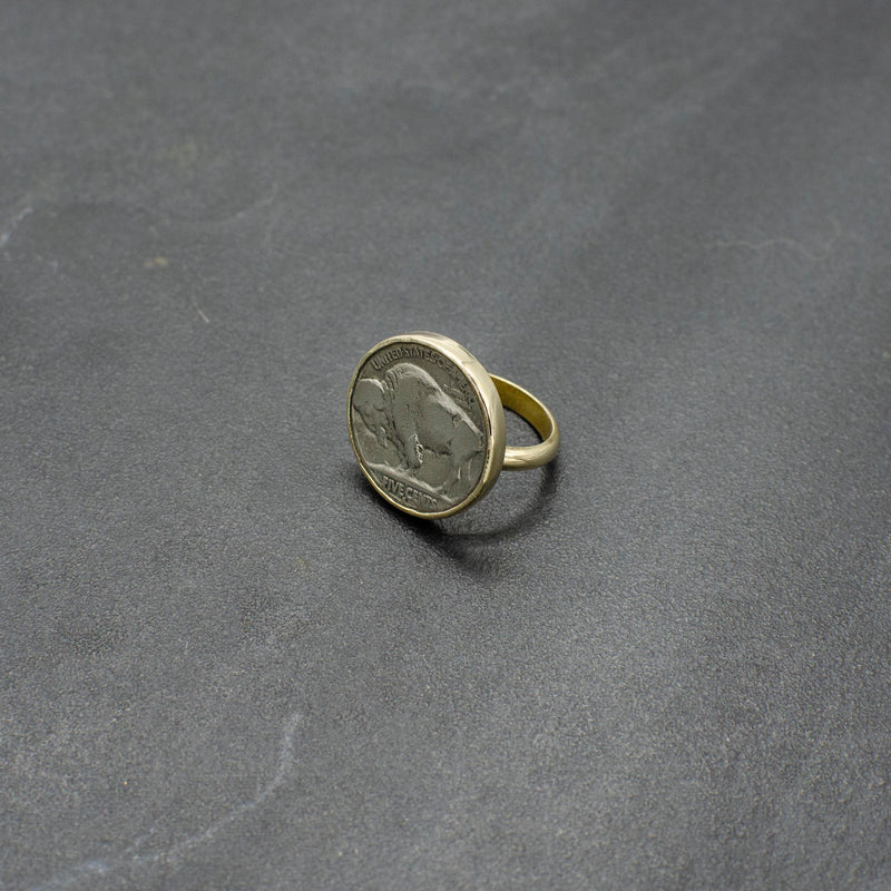 Buffalo Coin Ring
