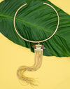 Snake Chain Crystal Necklace