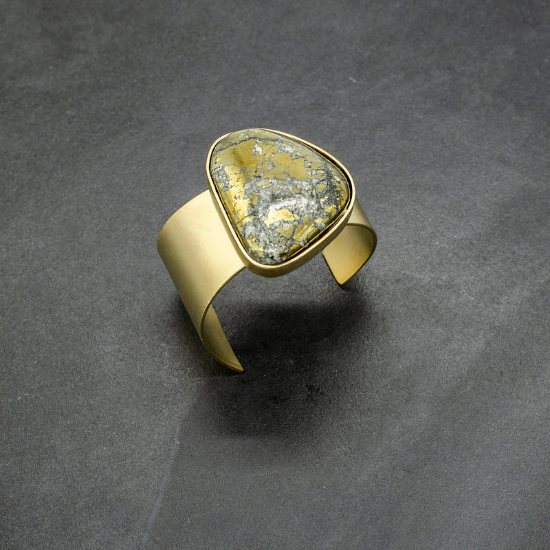 Golden Pyrite Cuff