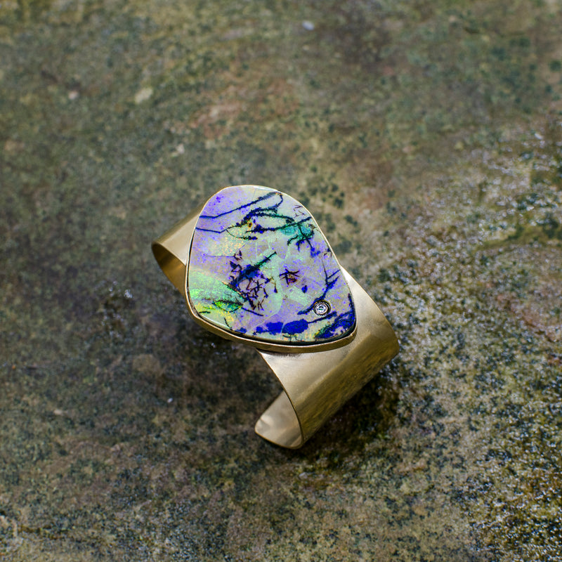 Opal Cuff - Dark Blue/Gold