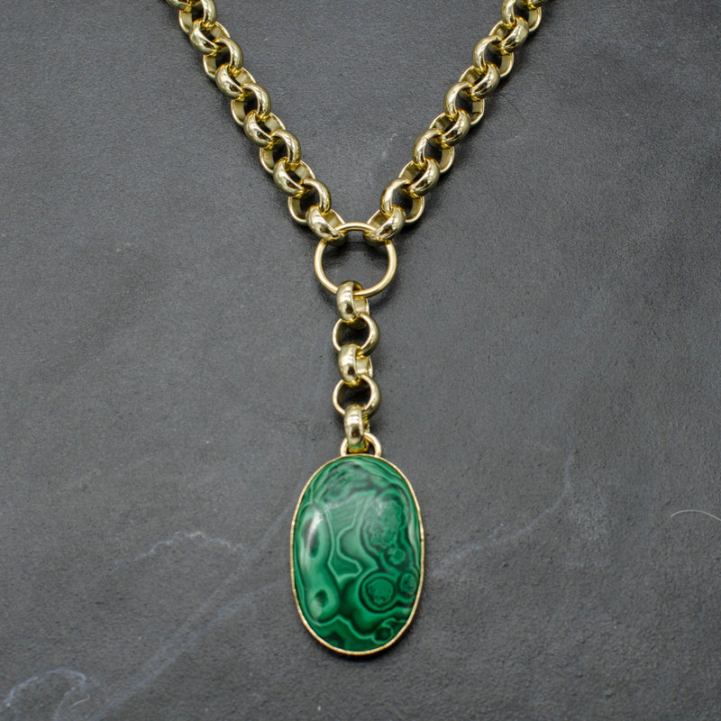 Rianna Necklace w/ Malachite