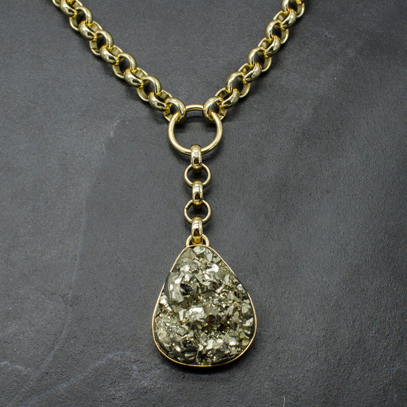 Rianna Necklace w/ Pyrite