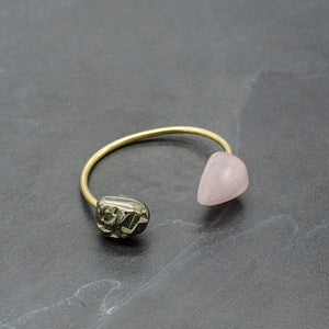 Rose Quartz and Pyrite Origin Bracelet