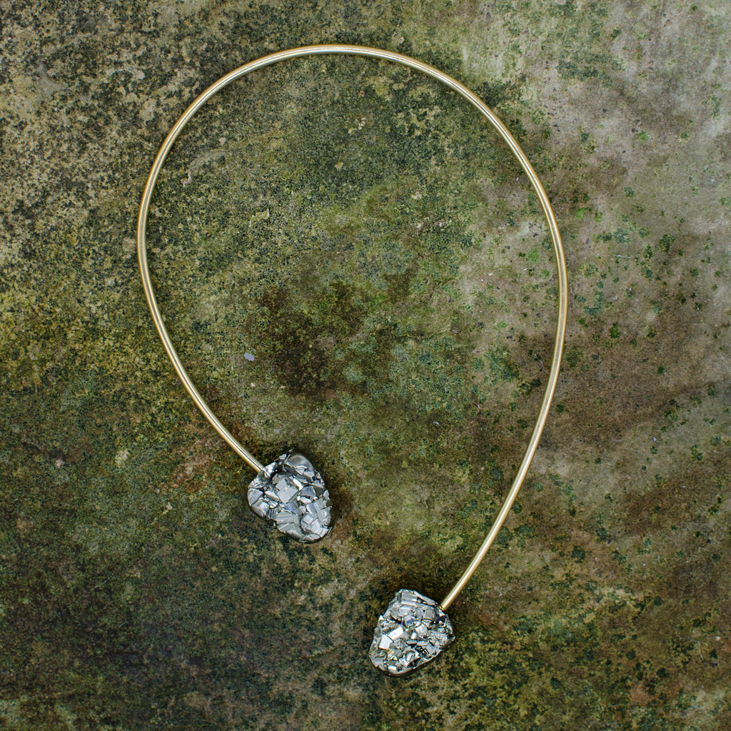 Double Pyrite Origin Necklace
