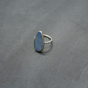 Gold & Silver Opal Ring