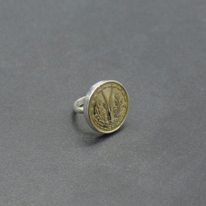 Gazelle Coin Ring- Large