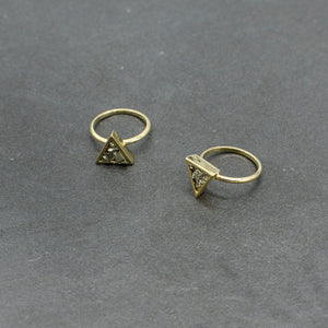 Triangle Pyrite Ring