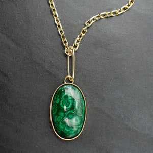 Long Malachite Necklace