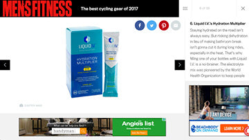 Liquid I.V. Coming in at #6 on the Men's Fitness List of The Best Cycling Gear of 2017