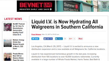 Liquid I.V. is Now Hydrating All Walgreens in Southern California