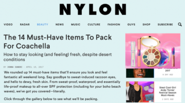 Nylon's 14 Must-Have Items To Pack For Coachella