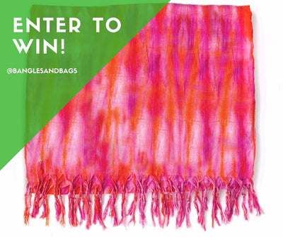 Lindsay Phillips Autographed Pink Beach Cabana Coverlet Giveaway!