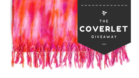 Enter to win this Lindsay Phillips Pink Autographed Coverlet!