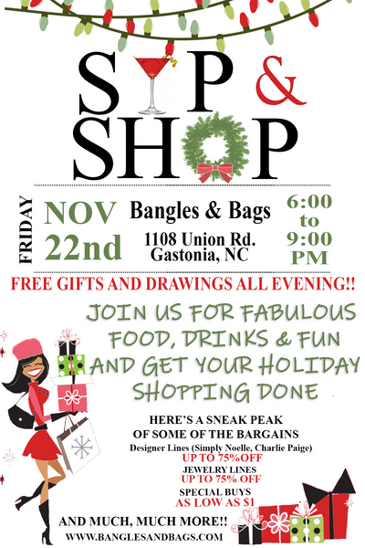 Holiday Sip and Shop
