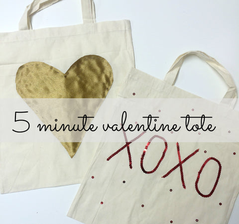 DIY Valentines Day Tote Bag