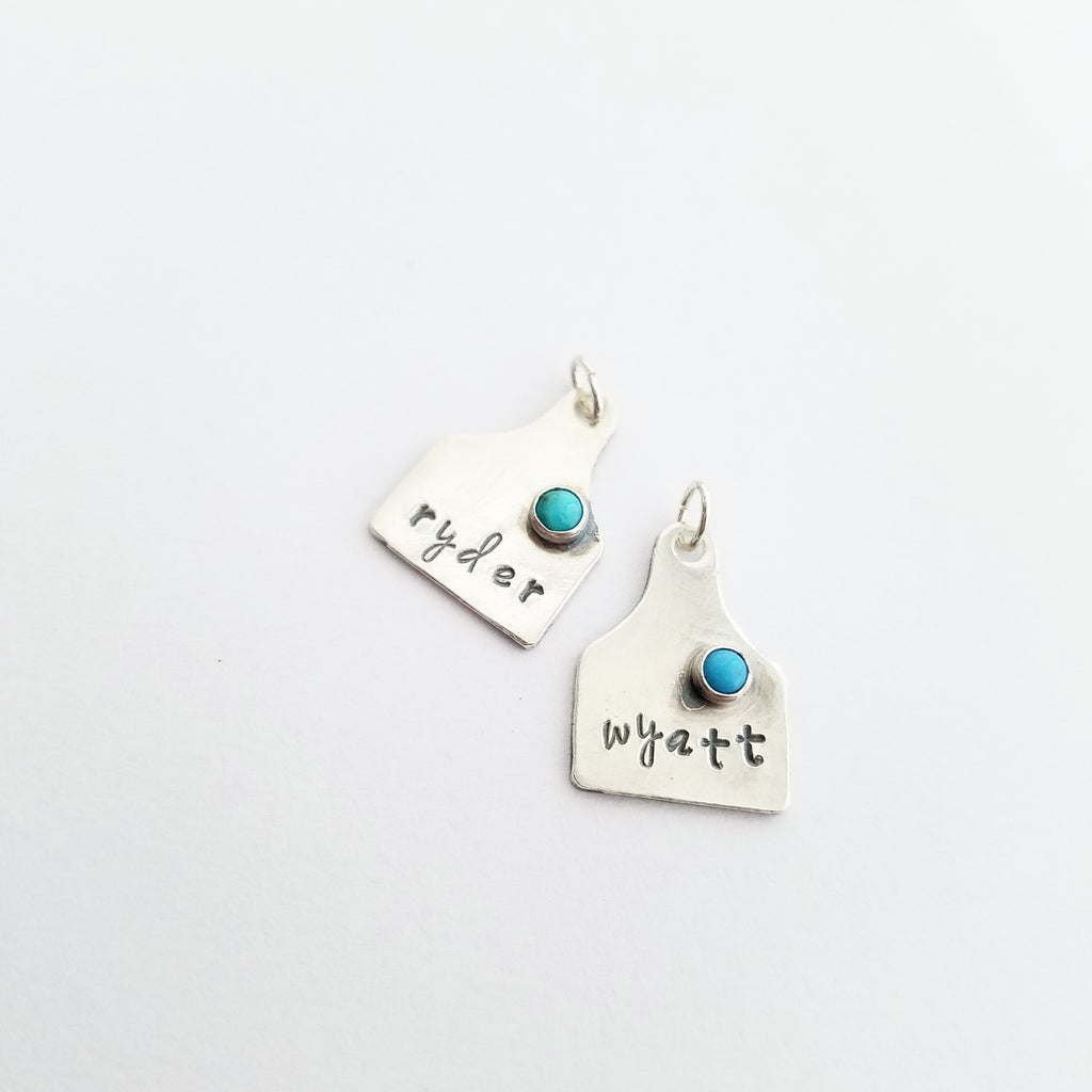 Tiny Eartag Necklace