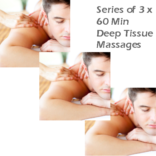 Series of 3 x 60 Min Deep Tissue Massages