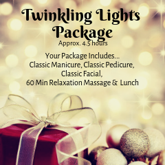 Christmas Package - Twinkling Lights Card