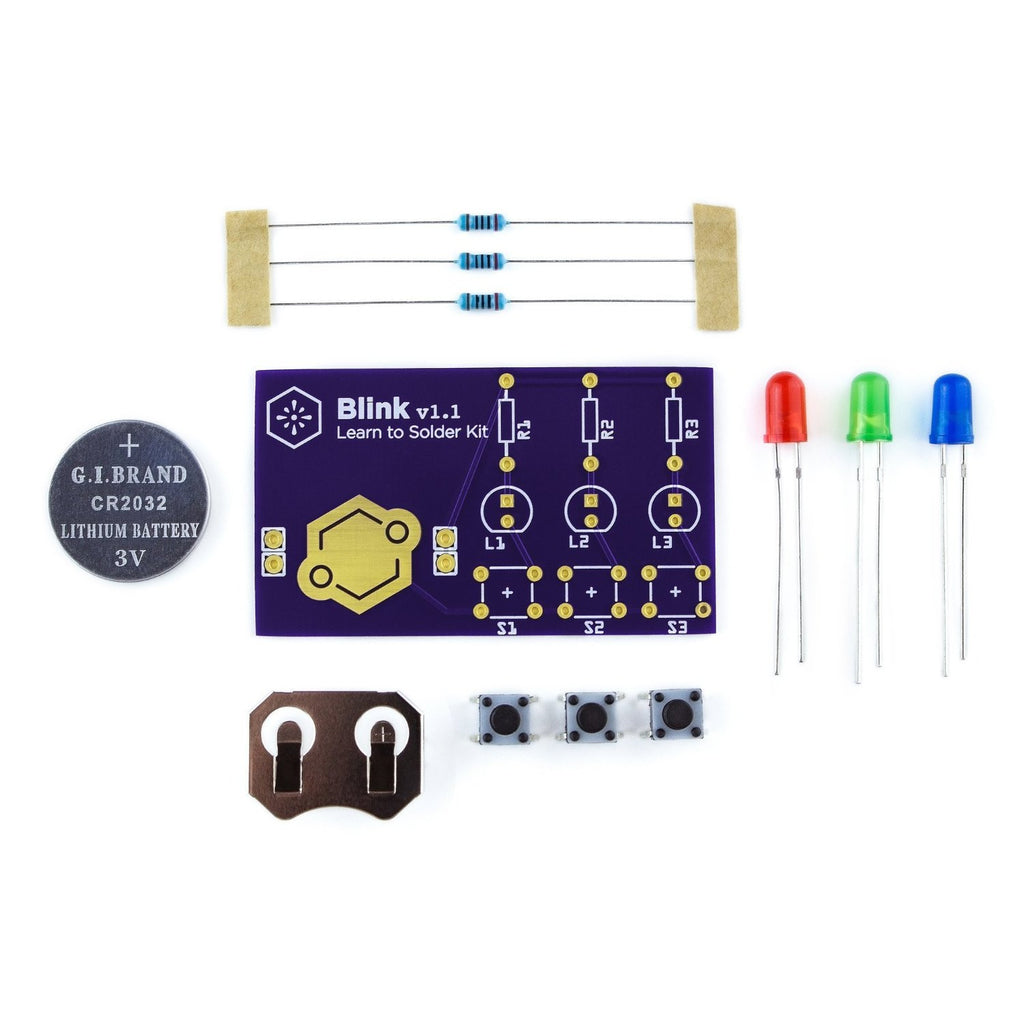 Learn to Solder Kit: Blink