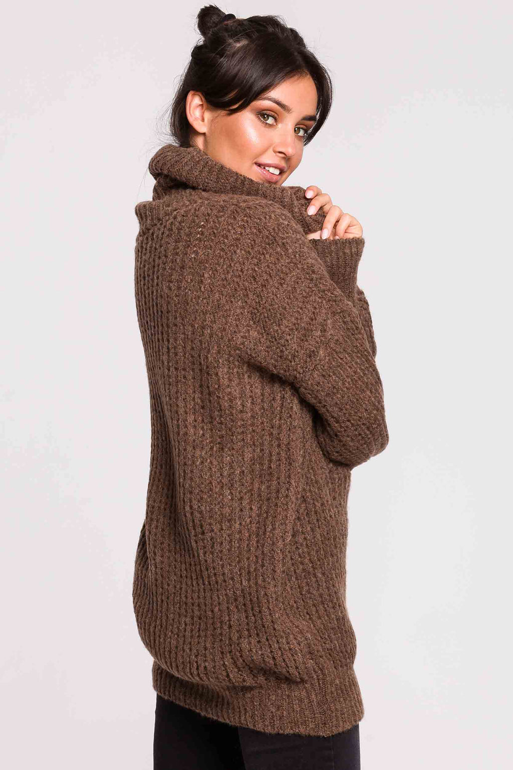Latte Turtleneck Sweater Dress - So Chic Boutique